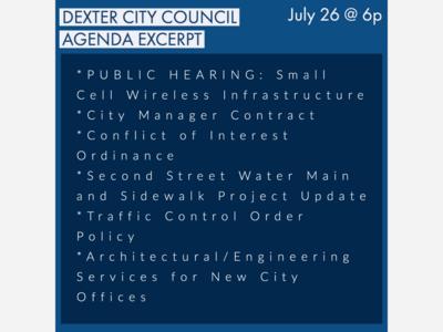 Dexter City Council Virtual Meeting